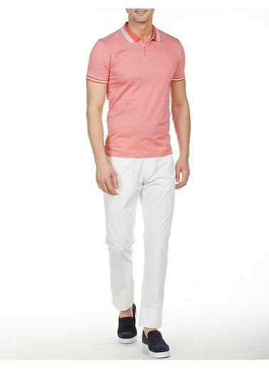 Bisse BTS18Y18305 Slim Fit Düz Polo Yaka T-Shirt Kırmızı
